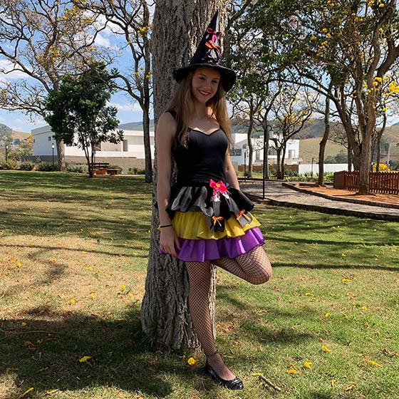 Saia Halloween Colors Infantil