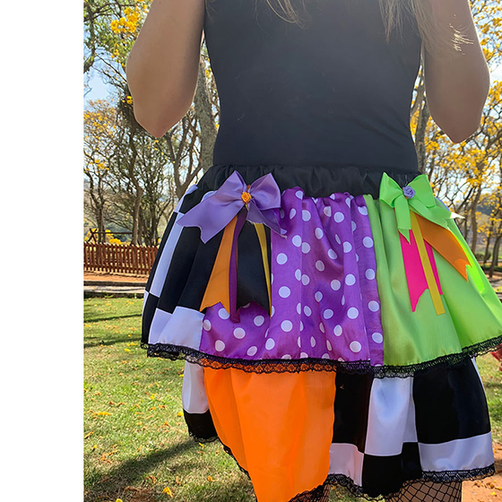 Saia Halloween Patch Infantil