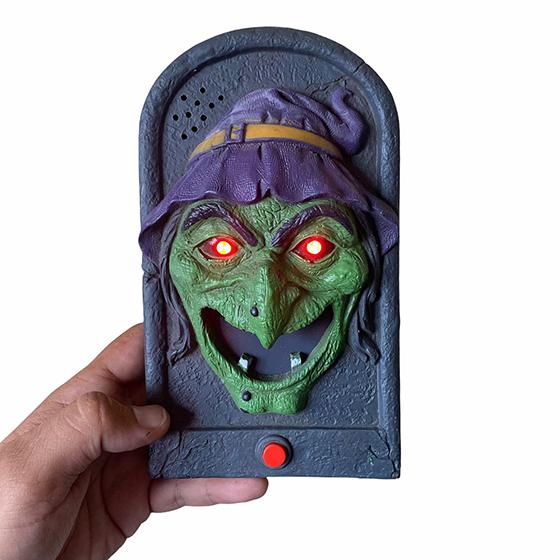 Campainha Eletrônica Halloween Emite Som, Mostra a Língua e Pisca os Olhos