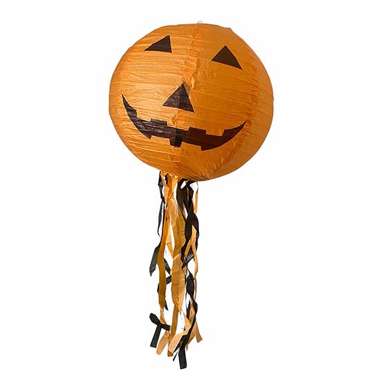 Luminária de Papel Decoração Halloween Abóbora Laranja