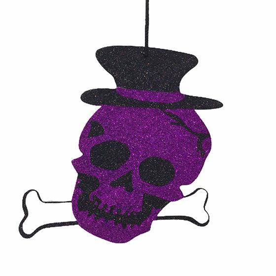 Painel Decorado Halloween Caveira Roxa