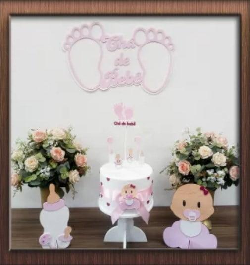 Kit Festa Pocket Party Chá de Bebê Rosa
