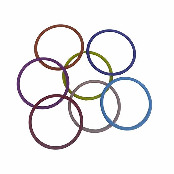 Argolas Coloridas de Plástico 10 cm - 10 unidades