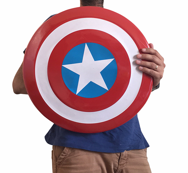 Escudo Super Herói Capitão América Acessório de Fantasia