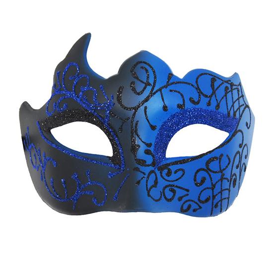 Máscara Espacial Preta e Azul