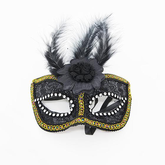 Máscara Flor Central Preta