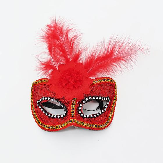 Máscara Flor Central Vermelha