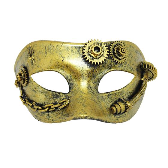 Máscara Steampunk Ouro