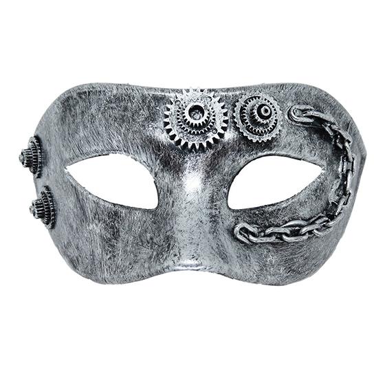 Máscara Steampunk Prata
