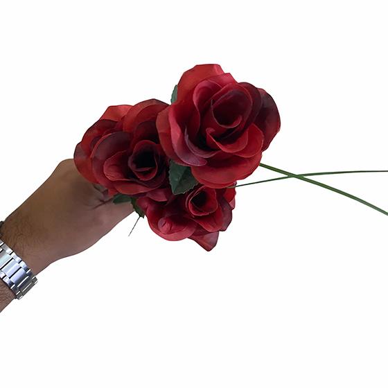 Flor Artificial Vermelha Unidade