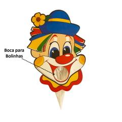 Boca Bocão de Palhaço Cartonado Festa Junina com 3 Bolinhas