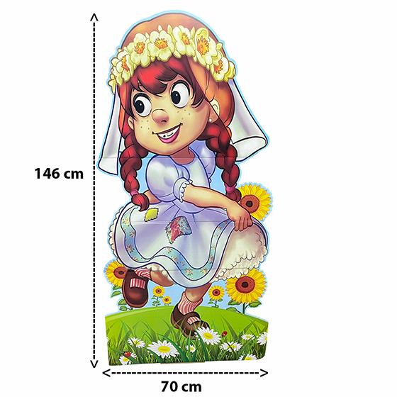Totem Junino Menina Caipira 146 cm x 70 cm