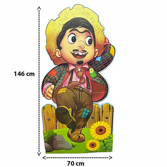 Totem Junino Menino Caipira 146 cm x 70 cm
