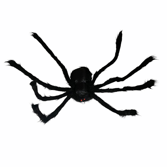 Aranha Peluda Mega Gigante 125 cm Preta Halloween