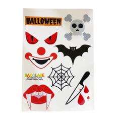 Cartela de Adesivos Tema Halloween com 7 adesivos